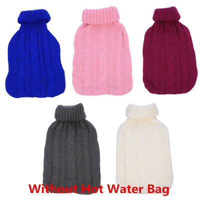 2L Hot Water Bottle with Warm Keeping Knitted Bag Cover Heated Coldproof Case