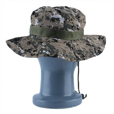 Military Army Jungle Camo Boonie Bucket Cap Hat Fishing Camping HikingChic FW