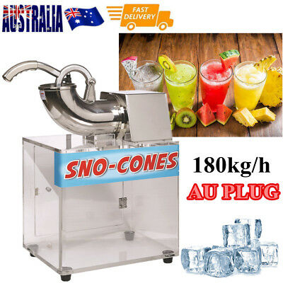 Electric Snow Cone Commercial Ice Shaver Crusher  Machine  Dual Blades AU Plug
