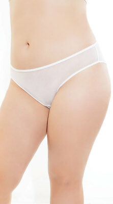 OS/XL Womens Plus Size Ruched Sheer Crotchless Panty