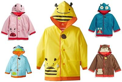NWT SKIP HOP ZOO Little Kids Colorful 3-D Raincoats, SELECT PATTERN AND SIZE