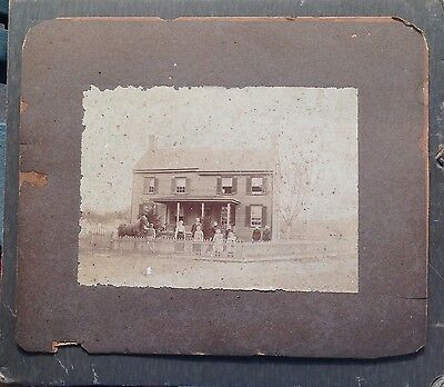 Eastern Shore VA Antique Photograph Home & Family Photo Marked Phillips Onley Va