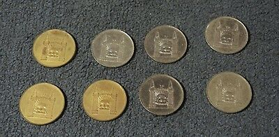 8 LUNA PARK ADMIT ONE TOKENS 5 SILVERED 3 GILDED 1970s? #6
