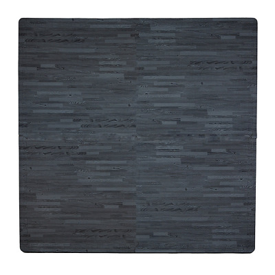 Tadpoles Wood Grain Playmat Set, Black
