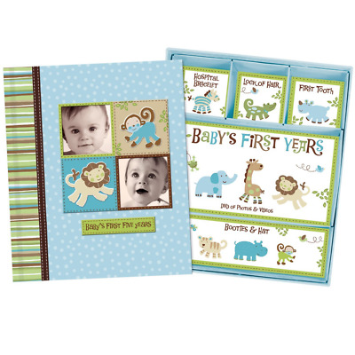 Baby Boy Memory Book Hardcover Record Babys First Five Years Diary Precious Mome