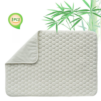 Quilted Pack N Play Crib Mattress Pad Liner Thicker Waterproof Changing Pad Line