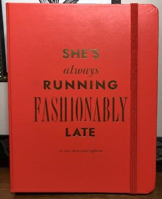 NEW*Kate Spade 2018 MEDIUM 17-Month AGENDA*She's Always RUNNING FASHIONABLY LATE