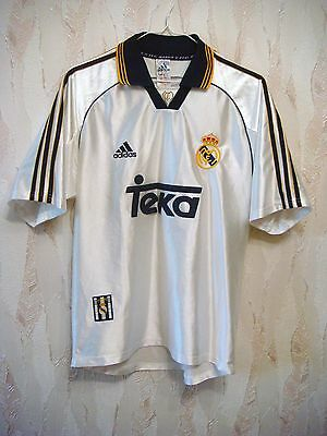 low priced 2960e 5271b REAL MADRID 1998/1999/2000 Adidas Football Soccer Shirt Jersey Camiseta Kit