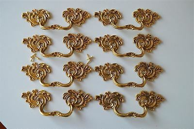 8 superb large solid brass Rococo drawer handle Louis XV furniture pull 2005