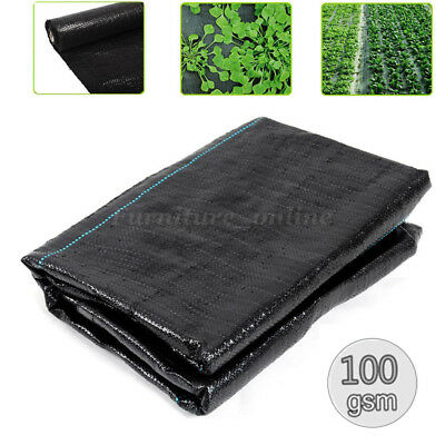 1m,2m,3m,4m Wide Weed Control Fabric Ground Cover Membrane Landscape Heavy Duty
