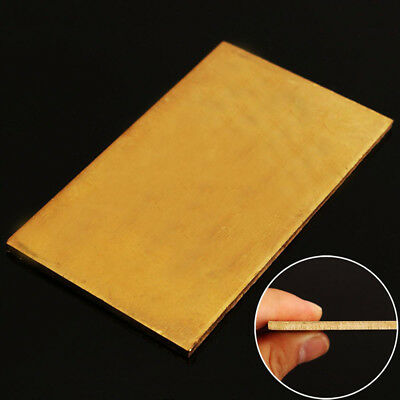 Golden Brass Metal Thin Sheet Plate Welding 60x100x3mm Metalworking Craft DIY