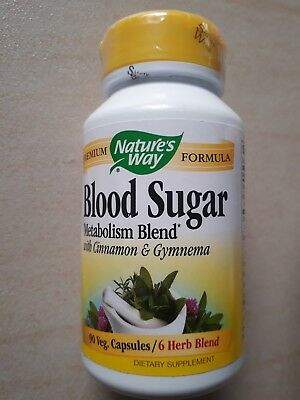 Nature's Way Blood Suger Complément alimentaire antioxydant 90 capsules