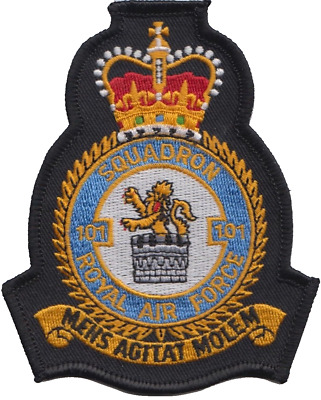 No. 101 Squadron Royal Air Force RAF Crest MOD Embroidered Patch