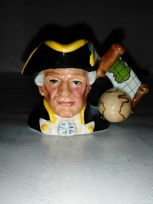 # *very Rare* Royal Doulton Character Jug: Captain James Cook D7086 Tiny 1.5""