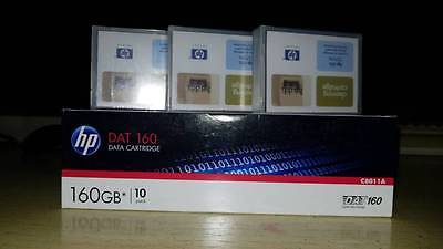 10 Pack HP C8011A DAT160 DATA TAPE 80/160GB (NEW) + 3 CLEANER C5709A FREE