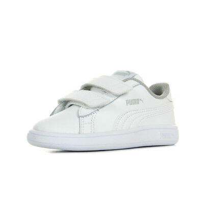 super populaire d45b7 eff3f CHAUSSURES BASKETS PUMA unisexe Smash v2 L V Inf taille Blanc Blanche Cuir