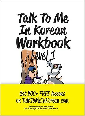 Talk To Me In Korean Level 1 Book Hangul Grammar Beginner Workbook 2015 TTMIK