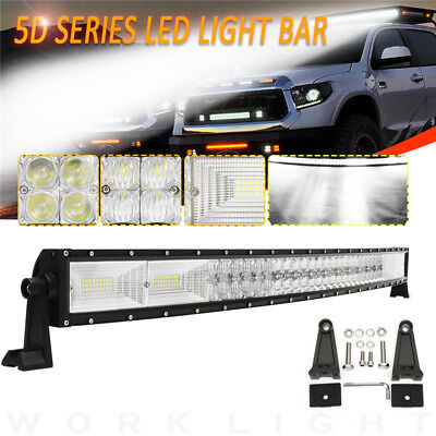 5D 42'' Inch 1400W LED Curved Work Light Bar Flood Spot Combo Offroad Car Truck