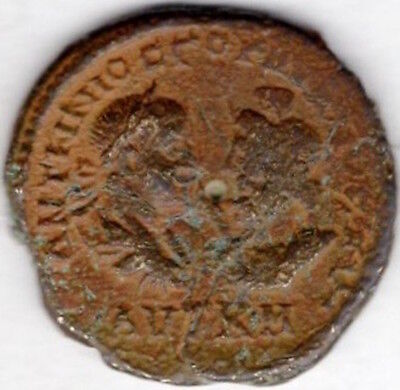 ancient Roman bronze AE27 coin Serapis with Gordian III, 238-244 AD (C330)