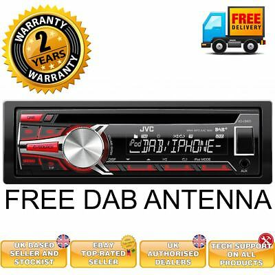 DAB car stereo by JVC KD-DB65 JVC DAB car stereo with USB AUX MP3 CD