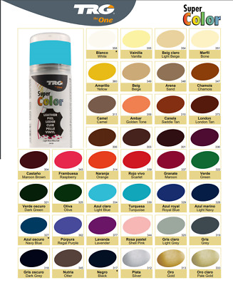TRG Super Colour Spray 150ml Leather Plastic & Canvas Dye Clean Perfect For Car