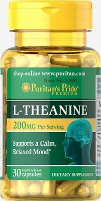 L-Theanine 200 mg x 30 Capsules - 24HR DISPATCH