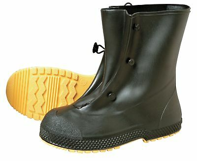 "Servus 12""H Men's Overboots, Plain Toe Type, PVC Upper Material, Black, Size L -"