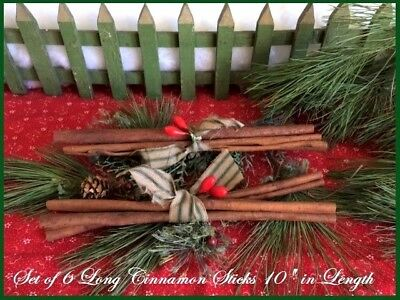 "Old Farmhouse ~ 2 Bundles of CINNAMON STICKS 10"" Length ~ Primitive Xmas Decor"