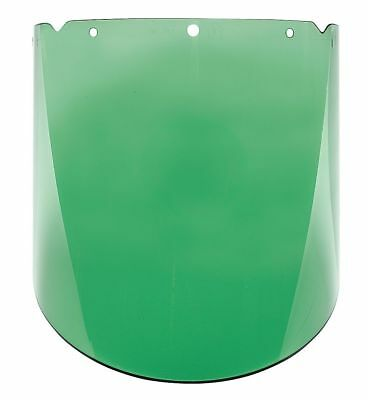 "V-Gard Green Tint Faceshield Visor, 10-3/8"" Visor Height, Polycarbonate Visor"