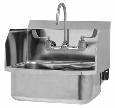 Sani-Lav Stainless Steel Hand Sink, With Faucet, Wall Mounting Type, Silver -