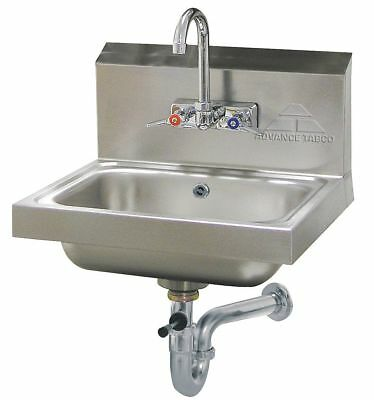 Advance Tabco Stainless Steel Hand Sink, With Faucet, Wall Mounting Type, Silver