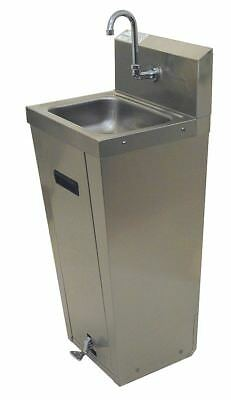 Advance Tabco Stainless Steel Hand Sink, With Faucet, Floor Mounting Type,