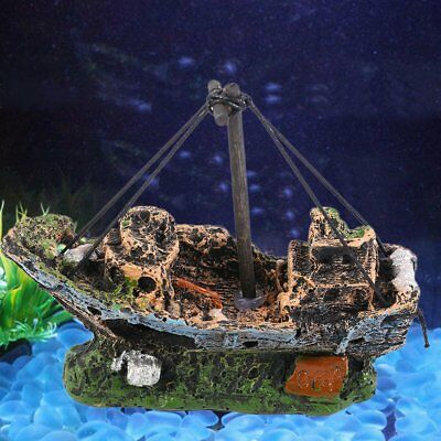 Pirate Ships In Aquariums Aquarium Landscape Decoration Aquarium Accessories R&@