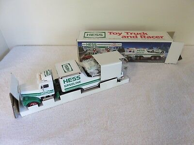 1991 Hess Truck and Racer -- New (NIB), Never Played With or Displayed