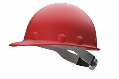"Fibre-Metal Front Brim Hard Hat, Red, Hat Size: 6-1/2 to 8"" - P2ARW15A000"