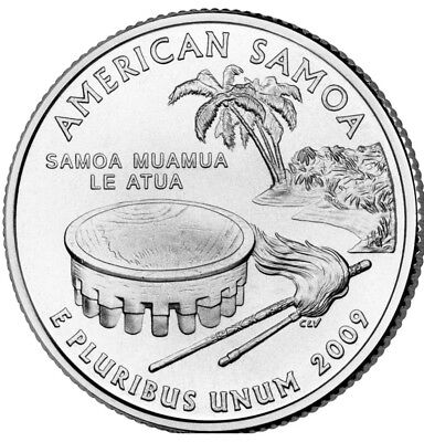 2009 P or D American Samoa Territorial Quarter New U.S. Mint Uncirculated""