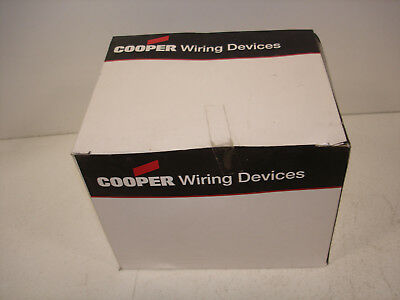 *new* Cooper Pj23W White  2Gang  Blank  Box Mount  Mid-Size Wallplate  *new*