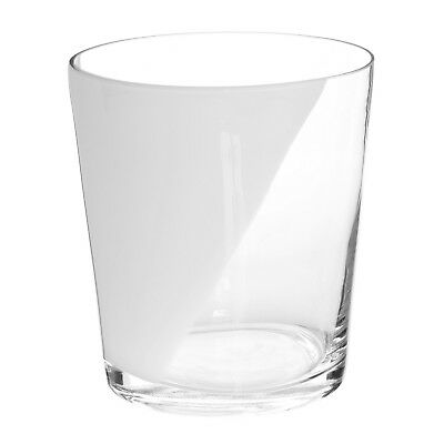 Premier Housewares 16.5diax18cm Glass Ice Bucket Clear Transparent And White New