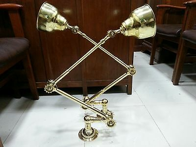 New Marine Nautical Brass Ship Stretchable Lamp- Industrial Lot Of 4 Pics