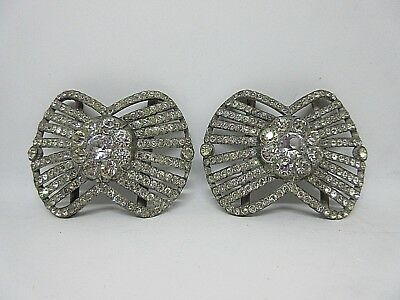 Pair Ornate French Antique Paste Shoe Buckles 1850's