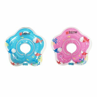 Cute Baby Float Neck Ring Safety PVC Inflatable Swimming Bathing Neck Circle JN