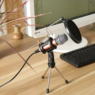 Condenser Studio Vocal Handheld Microphone With Cable KTV Mobile Phone Party AU