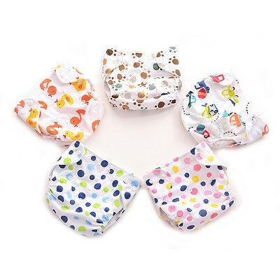 1x Adjustable Wash Reusable Cloth Wrap for Newborn Baby Cover snap Waterproof GV
