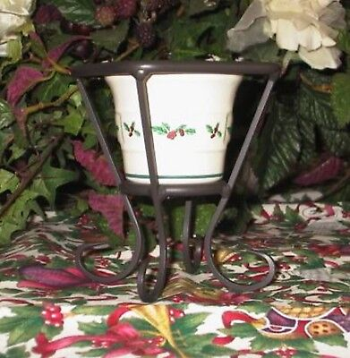 Longaberger Wrought Iron SPECIAL AWARD Votive Holder & Holly Votive - RARE & NEW