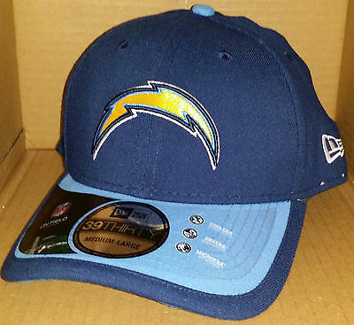 466450963f9b96 NWT New Era 39THIRTY Los Angeles CHARGERS san diego fitted size cap hat nfl