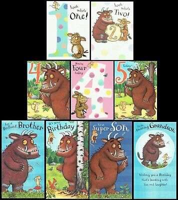 THE GRUFFALO ~ OFFICIAL BIRTHDAY CARD Great Graphics inside and out L@@K