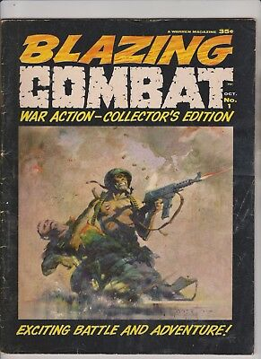 Blazing Combat #1 (1965 Warren Magazine) FN 6.0 Frazetta Cover