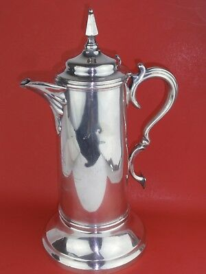 1879 SIMPSON HALL & MILLER  Silver Plate Dedication Large Tankard Pitcher
