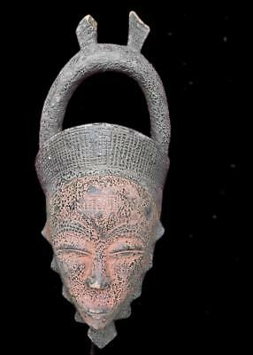 Old Tribal Yohure   Ceremonial   Mask       --- Coted'Ivoire  BN 6