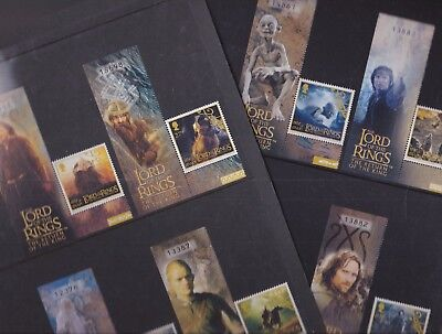 Isle of Man 2003 Mint MNH Full Set Tolkiens Lord of the Rings Film Characters